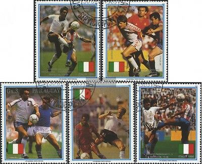 Paraguay 4434-4438 (complete issue) used 1989 Football-WM ´90,