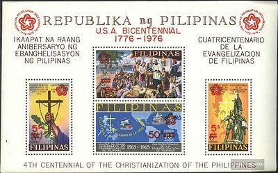 Philippines block9b (complete issue) used 1976 200 years Indepe