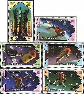 Ras al Khaimah 547A-552 A (complete.issue) used 1971 Space