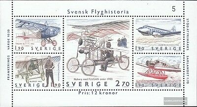 Sweden block12 (complete issue) unmounted mint / never hinged 1984 Aviation