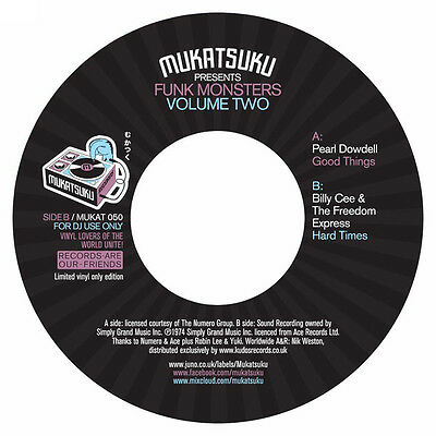 """Pearl Dowdell/billy Cee&the Freedom Express-Funk Monsters Vol 2 7"""" Vinyl Mint!"""
