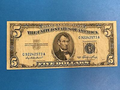 Series 1953 $5.00 Five Dollar Bill United States Note *MUST SEE*
