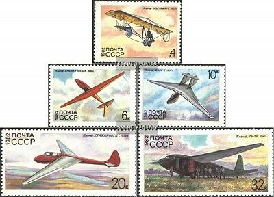 Soviet-Union 5202-5206 (complete issue) used 1982 Gliders