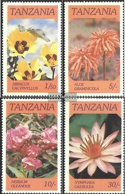 Tanzania 324-327 (complete issue) unmounted mint / never hinged 1986 Flowers