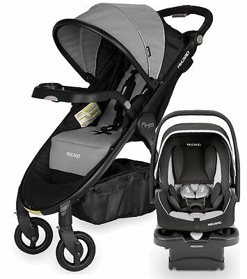 Recaro Denali Marquis Stroller + Car Seat Granite Black Frame Travel System New!
