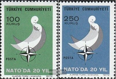 Turkey 2250-2251 (complete issue) unmounted mint / never hinged 1972 Year of Boo