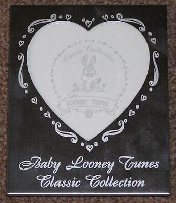 BABY LOONEY TUNES Rare CLASSIC COLLECTION Beautiful Silver Heart Picture Frame