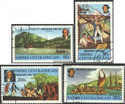 Central African republic. 555-558 (complete issue) used 1978 Ja