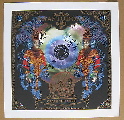 MASTODON Crack The Skye 2009 Promo Only AUTOGRAPHED Poster Lithograph METAL