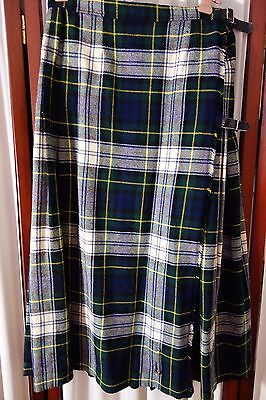 Vintage Kilt- S- Wool Tartan Plaid by McKenzie Alamen Scotland-Navy,Green- SALE