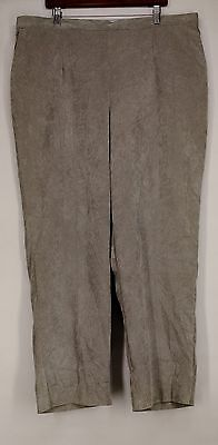 Alfred Dunner Plus Size Pants 22W W/Stretch Waistband Gray NEW