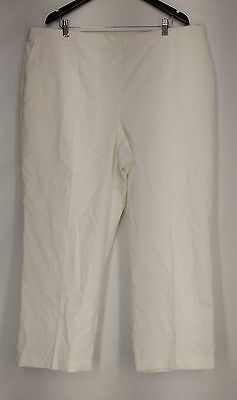 Alfred Dunner Plus Size Pants 24W Stretch Waist Corduroy White NEW