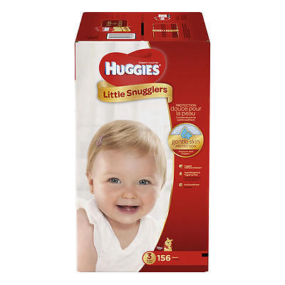 New Huggies Little Snugglers Size 3 Baby Disposable Diapers - 156 Count