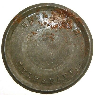 Thin Steel disc marked Uncle Sam Telegraph