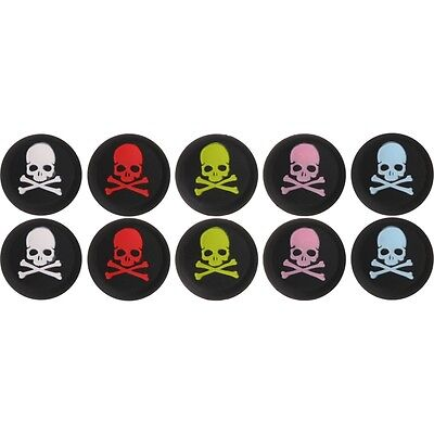 10X SKULL Thumbstick Cap Cover for PS4 XBOX Analog Controller Thumb Stick Grip
