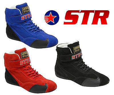 STR Racing Boots FIA APPROVED 8856-2000 High Quality UK Size 2.5 - 13.5