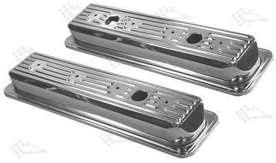 Mr Gasket 9415 Chrome Valve Covers SB Chevy 305-350 1987 Up