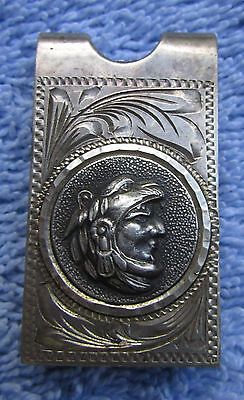 Stunning Vintage Solid Sterling Silver  Money Clip Mexico