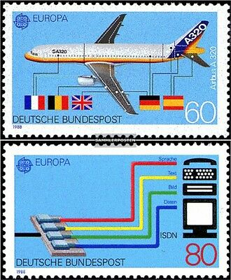 FRD (FR.Germany) 1367-1368 (complete issue) FDC 1988 Europe