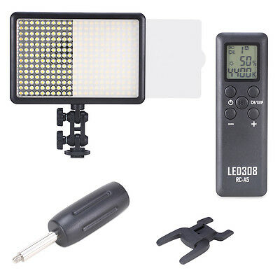 Neewer Photo Studio LED308C Dimmable Video Light Lamp with Wireless Remote