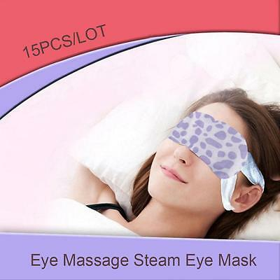 Steam Patch Soft Padded Travel Eye Sleep Mask Shade Cover Sleeping Blindfold BY