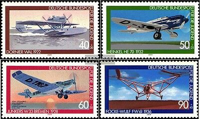 FRD (FR.Germany) 1005-1008 (complete issue) FDC 1979 Aviation
