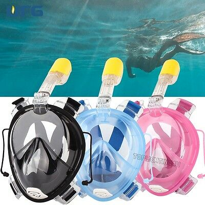 Full Face Swimming Goggles Snorkeling Diving Mask L/XL Water Sports For GoPro
