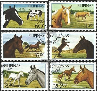 Philippines 1670-1675 (complete issue) used 1985 Horses