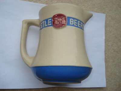 C1950S Vintage Castle Beers Advertising Water Jug