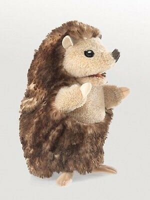 New FOLKMANIS Hand PUPPET Soft Plush Toy BABY HEDGEHOG Stuffed Farm Animal BROWN