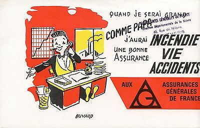 Buvard Publicitaire / Assurance Au Phenix /  Incendie Vie Accident / Nevers