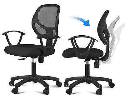 NEW Adjustable Mesh Mid Back Executive Computer Desk Office Task Chair Black US