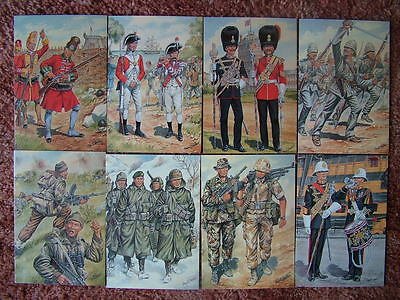 8 Card Set No 37 Military Postcards UNIFORMS OF THE ROYAL MARINES. Mint cond.