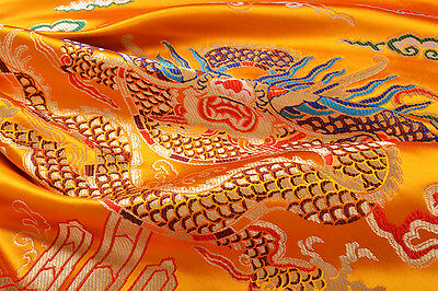 "28""x 28""damask Jacquard China Dragon Robe Brocade Fabrbic : China Royal Dragon ="