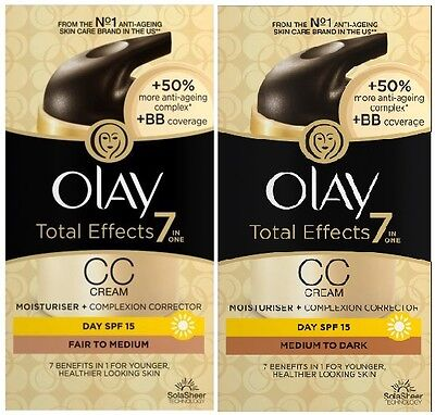 Olay Total Effects CC Cream 7in1 (2 x 50ml) Complexion Corrector SPF15