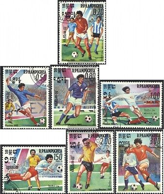 Cambodia 632-638 (complete issue) used 1985 Football-WM 1986, M