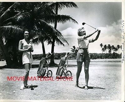 """Donna Reed Deborah Kerr Candid From Here To Eternity Original 8x10"""" Photo #M1412"""