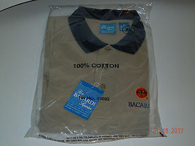 Bacardi Rum Polo-Golf Shirt XL New With Tags