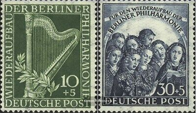 Berlin (West) 72-73 (complete issue) unmounted mint / never hinged 1950 Philharm