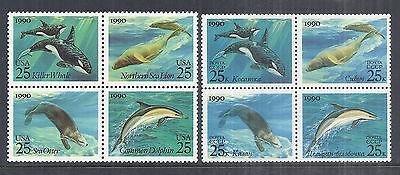 1990 US & Russia Joint Issue Sea Creatures Block 2508-2511 | 5933-5936 MNH*