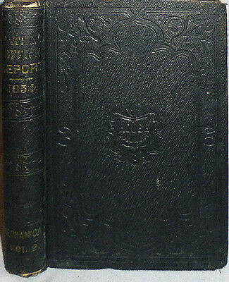 1854 -US Patent Office Report- Vintage Americana Book w/1500+ Illustrations