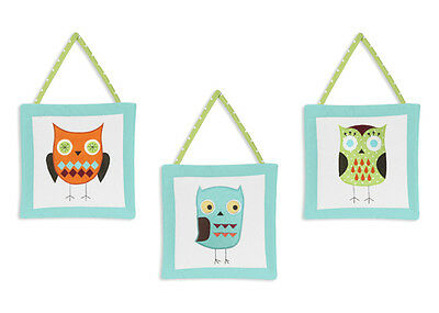 Wall Art Decor Hangings Sweet Jojo Designs for Hooty Owl Baby Kids Bedding Sets