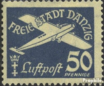 Gdansk 254 with hinge 1935 Airmail
