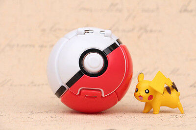 Red Pokemon Throw Pop PokeBall Cosplay Pop-up Elf Go Fighting Poke Ball Game toy
