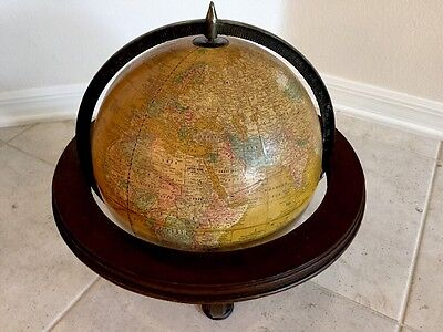 Vintage Large Cram's Imperial World Library Globe Wood Stand