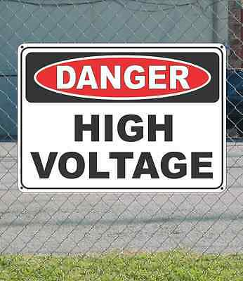 "DANGER High Voltage - OSHA Safety SIGN 10"" x 14"""