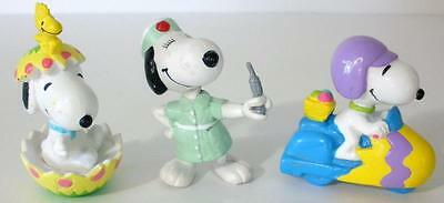 3 Peanuts Snoopy PVC Figures 2 From Whitmans Chocolates And 1 Nurse Figure
