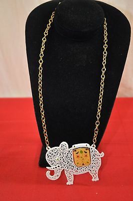 Vintage Elephant Necklace Gold Crown Inc Costume Jewelry Republican GOP #1344