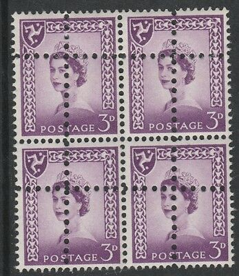 Isle of Man 3143 - 1958 Regional 3d block of 4  DOUBLE PERFS FORGERY u/m