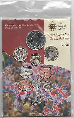 GB 2012 Royal Mint Brilliant Uncirculated coin set